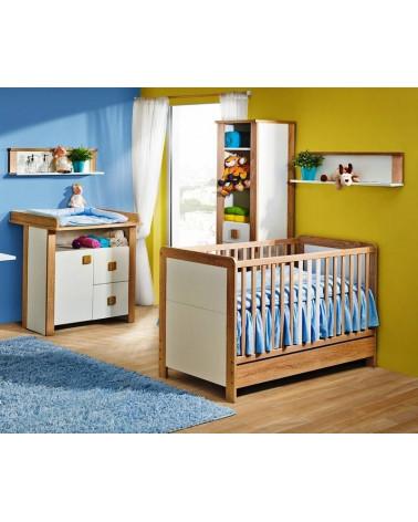Chambre bébé avec une Commode Lara Chêne