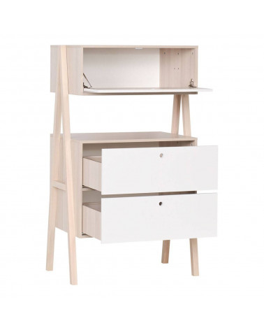 Commode 3 tiroirs blancs Collection Spot Young
