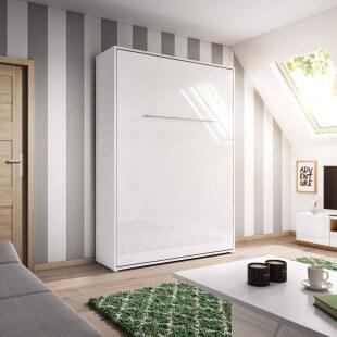 Lit armoire escamotable blanc