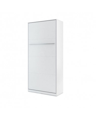 Lit armoire escamotable vertical - blanc mat 90x200