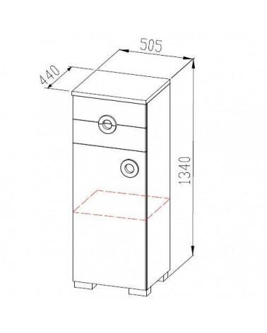 Schéma de la petite armoire Chloé