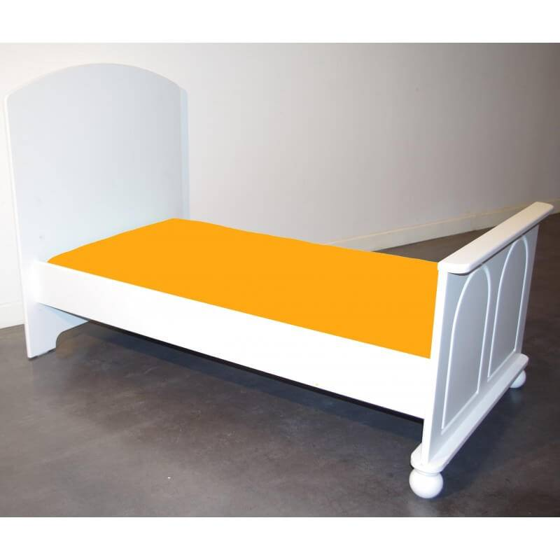 Drap Housse 160 cm x 70 cm pour Lit Junior - Couleur Soleil