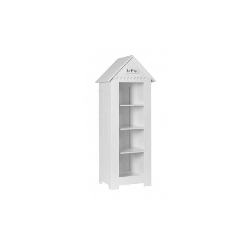 Petite Bibliothèque Cabine de Plage - Blanche