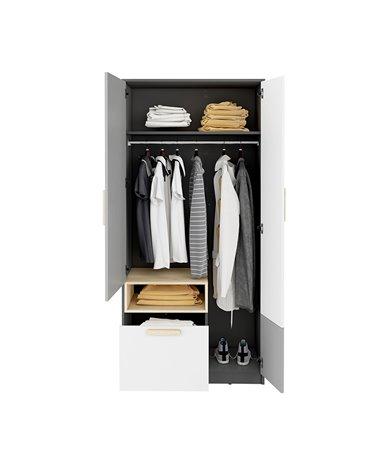 Armoire double avec tiroir Pok ouverte