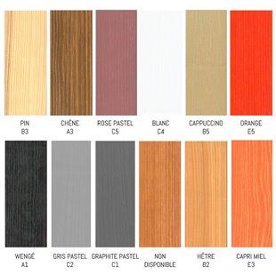 Lit personnalisable dans les 24 couleurs de ce damier sur demande.