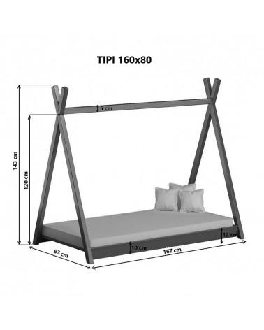 Dimensions du lit Tipi 160x80