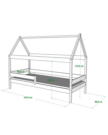 Dimension lit Domek 160x80