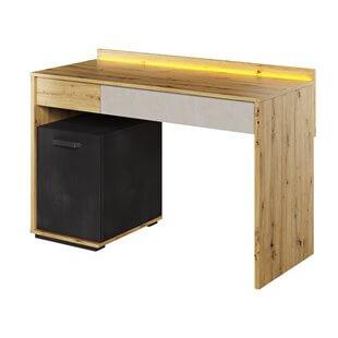 Bureau avec LED QUBIC pour chambre ado