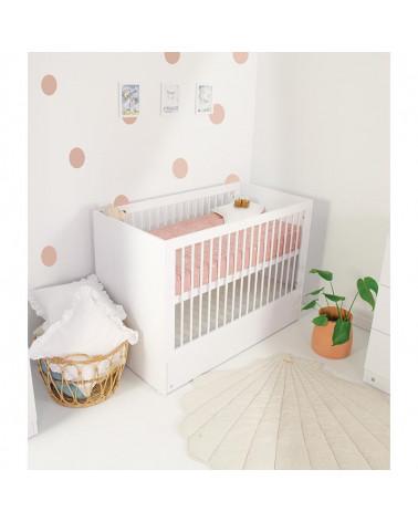 Lit bébé 120x60 LIO blanc avec tiroir de rangement