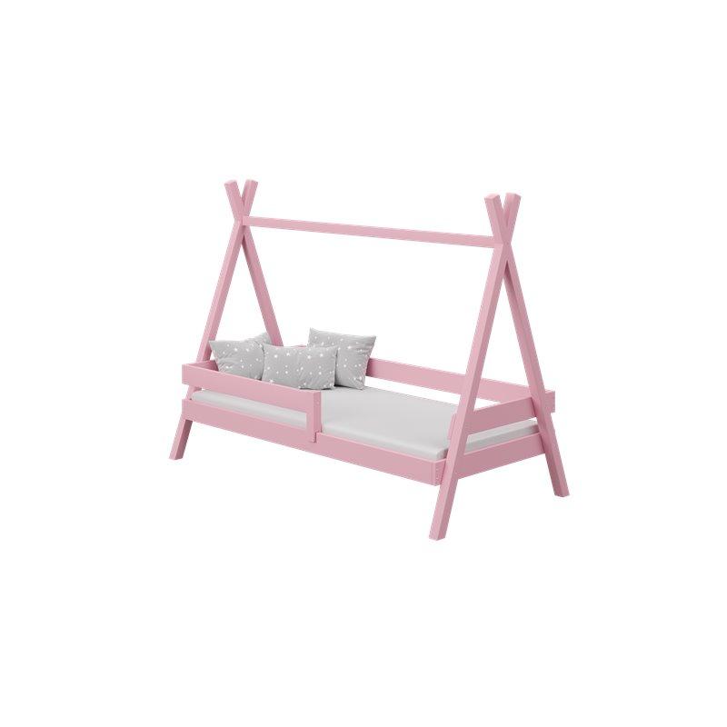 Lit Tipi couleur rose