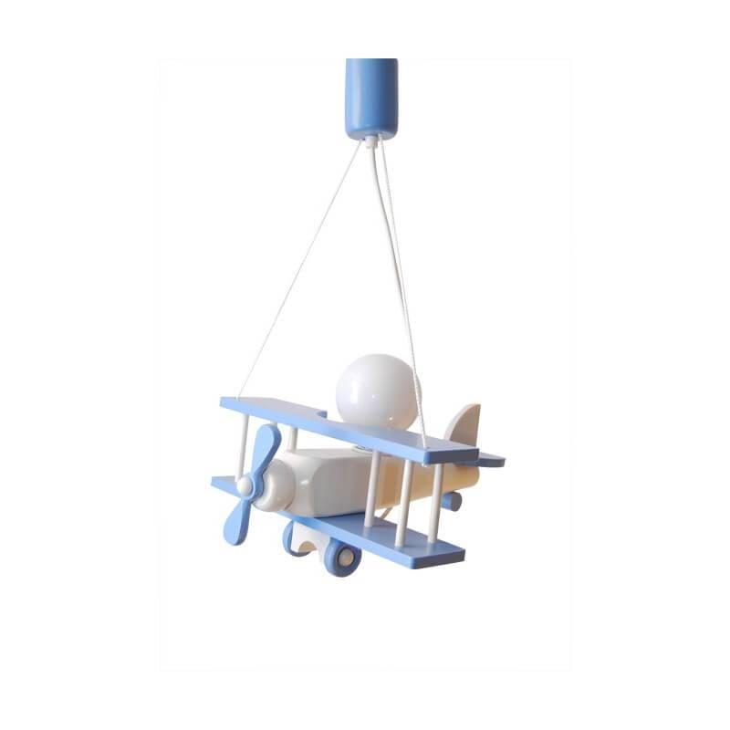 Luminaire Petit Avion Bleu / Blanc