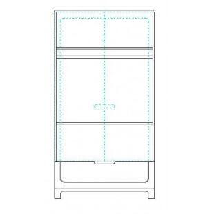 schema de l'armoire deux portes collection Mini