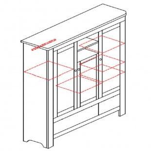 Intérieur de l'armoire trois portes collection Betula