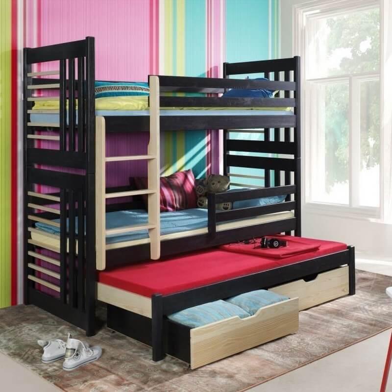 lit enfant superpos roland iii avec lit gigogne 3 couchages. Black Bedroom Furniture Sets. Home Design Ideas