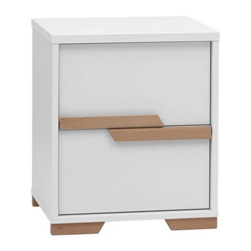 Caisson de bureau blanc avec 2 tiroirs collection snap for Bureau 60x120