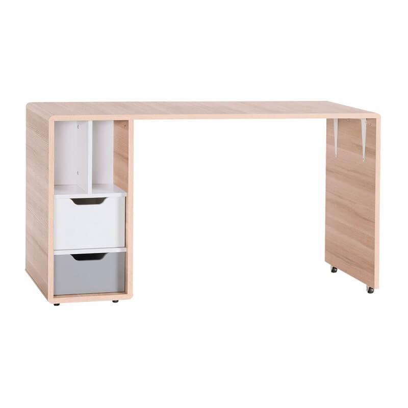 Bureau coulissant 140cm collection evolve for Bureau 60x120