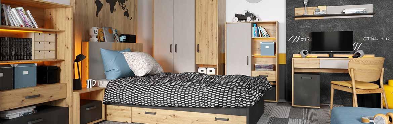 Collection QUBIC, chambre adolescent moderne et design | PetiteChambre