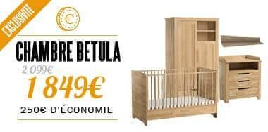 Chambre complète bébé en bois pas cher