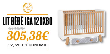 lit bébé 120x60 collection IGA